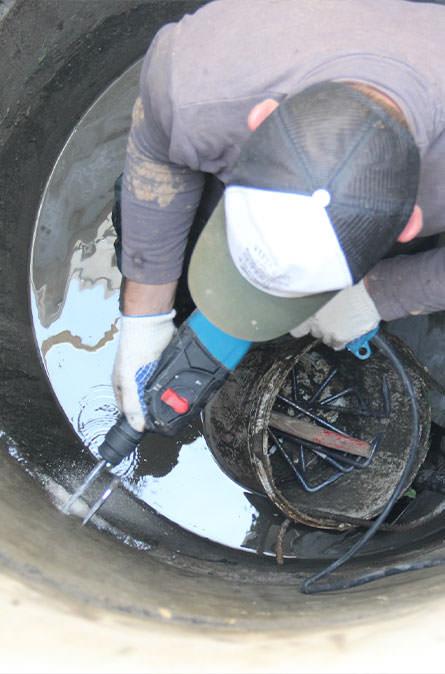 Как мы выполняем ремонт колодцев в Медынском районе